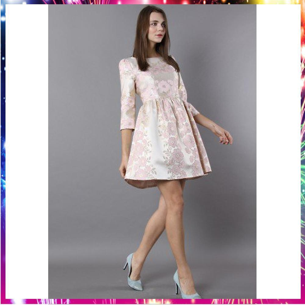 【送料関税込・国発】 Blossomy Romance Jacquard Dress