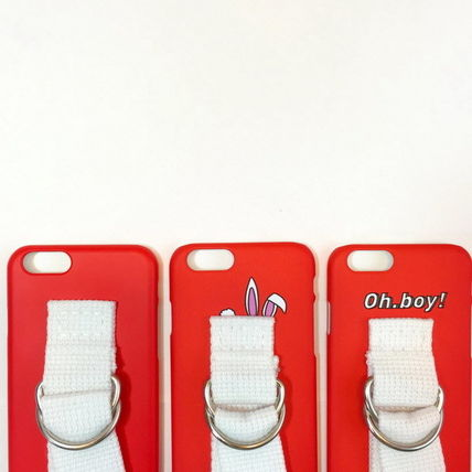 SECOND UNIQUE NAME iPhone・スマホケース 【日本未入荷】「SECOND UNIQUE NAME」 スマホ ケース RED+WHITE(11)