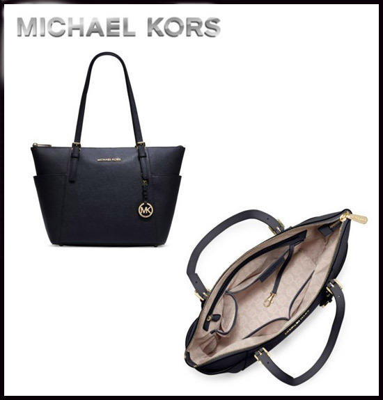 MICHAEL KORS★JET SET TOP ZIP SAFFIANO LEATHER TOTE 国内発送