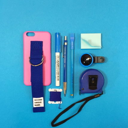 SECOND UNIQUE NAME iPhone・スマホケース 【日本未入荷】「SECOND UNIQUE NAME」 スマホ ケース PINK+BLUE