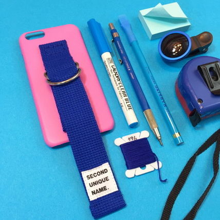SECOND UNIQUE NAME iPhone・スマホケース 【日本未入荷】「SECOND UNIQUE NAME」 スマホ ケース PINK+BLUE(2)