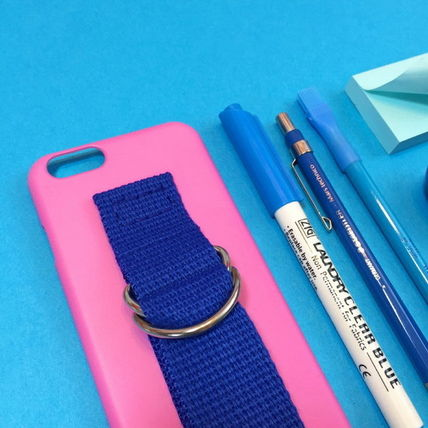 SECOND UNIQUE NAME iPhone・スマホケース 【日本未入荷】「SECOND UNIQUE NAME」 スマホ ケース PINK+BLUE(3)