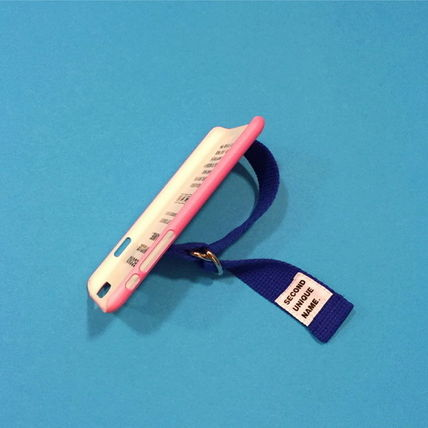SECOND UNIQUE NAME iPhone・スマホケース 【日本未入荷】「SECOND UNIQUE NAME」 スマホ ケース PINK+BLUE(7)