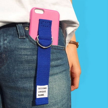 SECOND UNIQUE NAME iPhone・スマホケース 【日本未入荷】「SECOND UNIQUE NAME」 スマホ ケース PINK+BLUE(9)