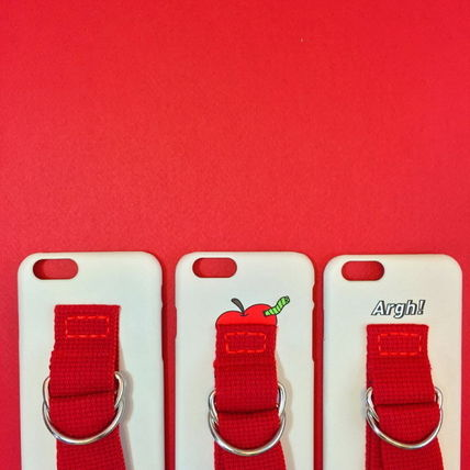 SECOND UNIQUE NAME iPhone・スマホケース 【日本未入荷】「SECOND UNIQUE NAME」 スマホケース IVORY+RED(11)