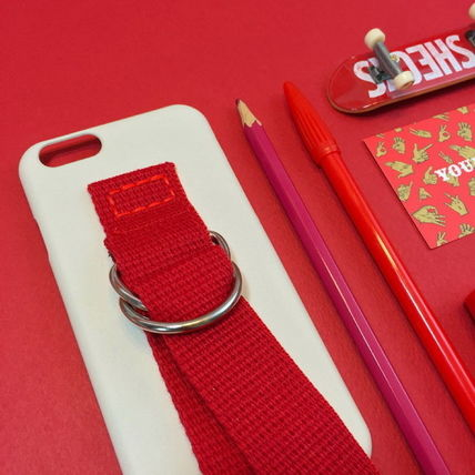 SECOND UNIQUE NAME iPhone・スマホケース 【日本未入荷】「SECOND UNIQUE NAME」 スマホケース IVORY+RED(3)