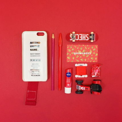 SECOND UNIQUE NAME iPhone・スマホケース 【日本未入荷】「SECOND UNIQUE NAME」 スマホケース IVORY+RED(5)