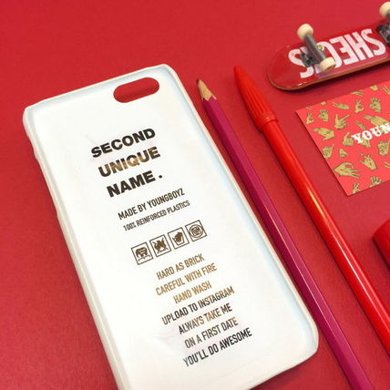 SECOND UNIQUE NAME iPhone・スマホケース 【日本未入荷】「SECOND UNIQUE NAME」 スマホケース IVORY+RED(6)