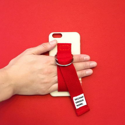 SECOND UNIQUE NAME iPhone・スマホケース 【日本未入荷】「SECOND UNIQUE NAME」 スマホケース IVORY+RED(8)