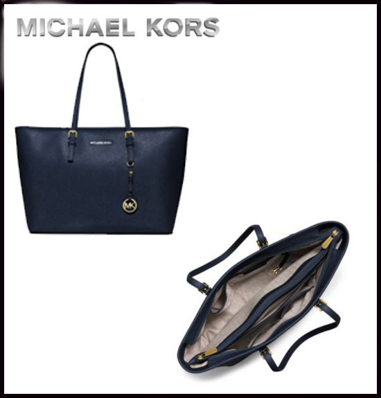 MICHAEL KORS★JET SET TRAVEL SAFFIANO  TOP-ZIP TOTE 国内発送
