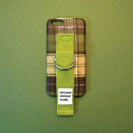 SECOND UNIQUE NAME iPhone・スマホケース 【日本未入荷】「SECOND UNIQUE NAME」フランネル olive