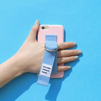 SECOND UNIQUE NAME iPhone・スマホケース 【日本未入荷】「SECOND UNIQUE NAME」 スマホケースPINK+L.BLUE(5)