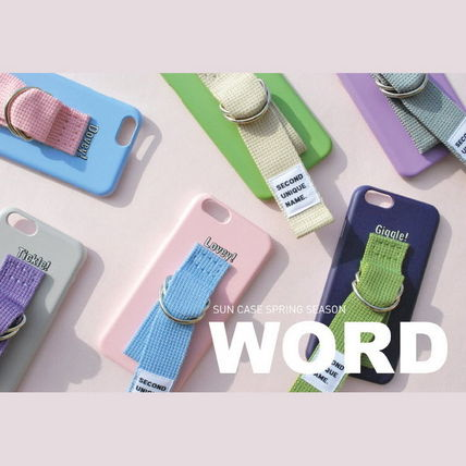 SECOND UNIQUE NAME iPhone・スマホケース 【日本未入荷】「SECOND UNIQUE NAME」 スマホケースPINK+L.BLUE(9)