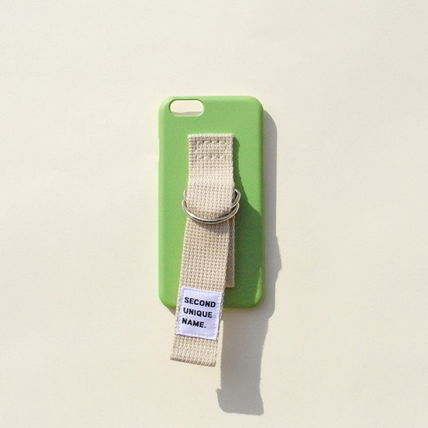 SECOND UNIQUE NAME iPhone・スマホケース 【日本未入荷】「SECOND UNIQUE NAME」 スマホケースGREEN+IVORY