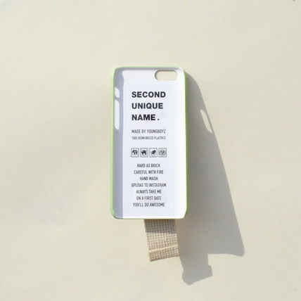 SECOND UNIQUE NAME iPhone・スマホケース 【日本未入荷】「SECOND UNIQUE NAME」 スマホケースGREEN+IVORY(2)