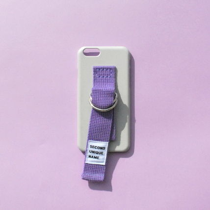SECOND UNIQUE NAME iPhone・スマホケース 【日本未入荷】「SECOND UNIQUE NAME」 スマホケースGREY+PURPLE