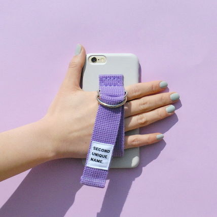 SECOND UNIQUE NAME iPhone・スマホケース 【日本未入荷】「SECOND UNIQUE NAME」 スマホケースGREY+PURPLE(5)