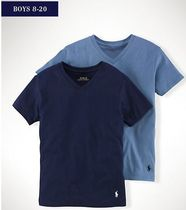新作!大人もOK♪ SOLID COTTON V-NECK 2-PACK boys8~20