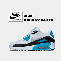 NIKE☆AIR MAX 90 LTR(GS)☆バイカラー☆レザー☆22.5~25cm