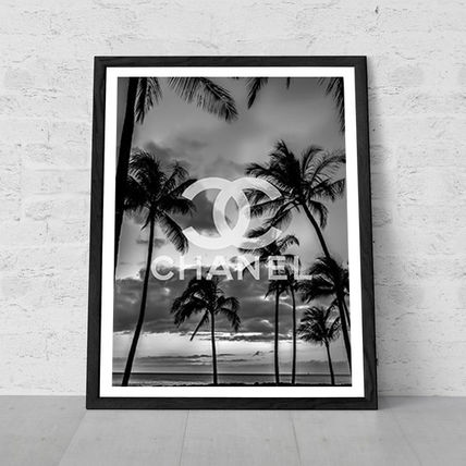 A4/A3 CHANEL Palm tree art poster