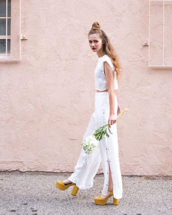 Paradise Riot LA from PLEATED SHEER Setup / white