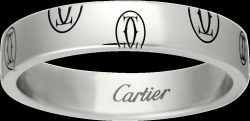 ★SELL★Cartier ハッピーバースデー ロゴリング WG SM #52 Jp12