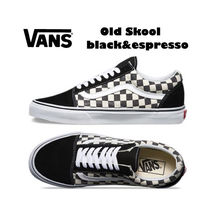 VANS☆OLD SKOOL black&espresso★チェック★兼用★22~28cm