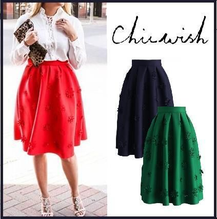 Japan Chicwish 3D floral skirt