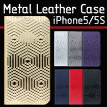♪iPhone SE/5/5s ケース SLG Design D4 Metal Leather Diary♪