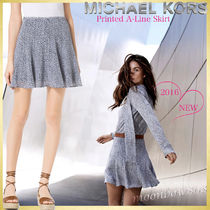 【新作☆日本未入荷】 Michael Kors Printed A-Line Skirt