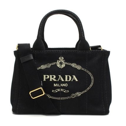 Prada 2-WAY handbag 1BG439 ZKI F 0002: CANAPA color Nero