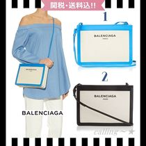 2016SS★BALENCIAGA★Navy Pochette Canvas Cross-Body Bag 2色