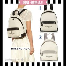 2016SS!!★BALENCIAGA★Navy Canvas and Leather Backpack 2色