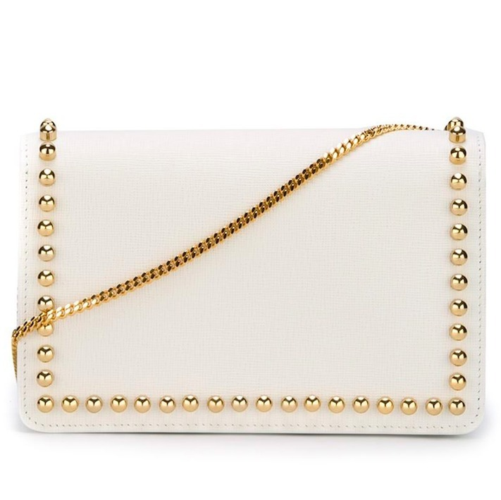 FE834 FENDI 'KARLITO' STUDDED WALLET CHAIN SHOULDER BAG