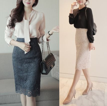 perfect for Office casual lace skirt