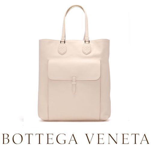 ☆BOTTEGA VENETA☆ Calf Leather トートバッグ PALE♪