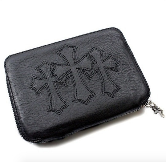 【CHROME HEARTS】レザー 財布 CHプラス Bank Robber Wallet
