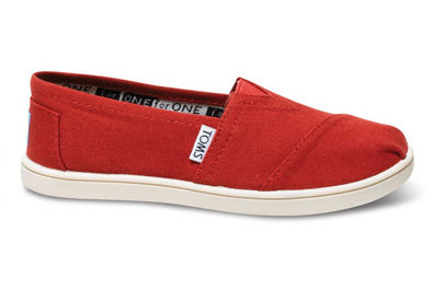 【即発】トムス TOMS Red Canvas Youth Classics