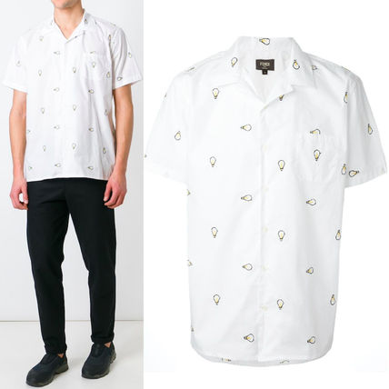 FE917 FENDI LIGHT BULB EMBROIDERED OPEN COLLAR SHIRT
