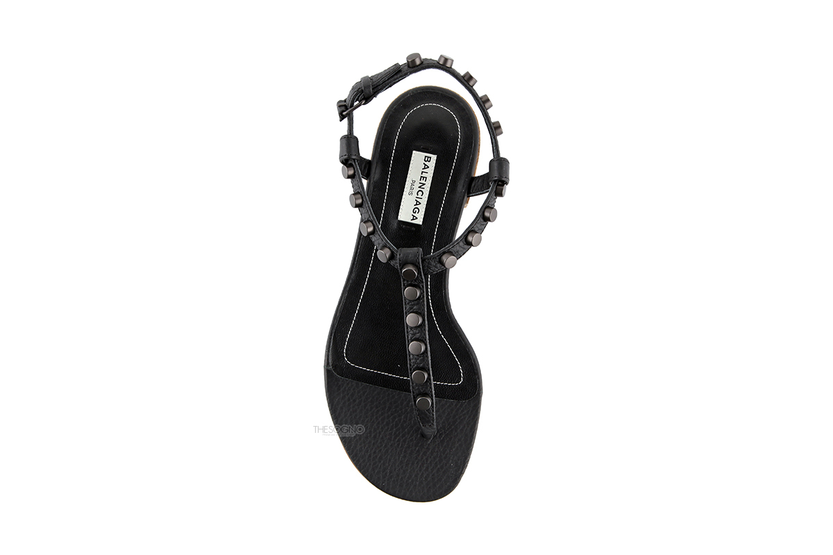 【関税負担】 BALENCIAGA 16SS STUDS DETAIL SANDALS /BLACK