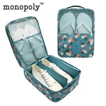 monopoly(モノポリー) トラベルポーチ 3足収納可能★MERRYGRIN SHOES POUCH シューズポーチ (花柄)