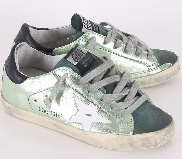 【関税負担】GOLDEN GOOSE 16SS SUPERSTAR GREEN LAME
