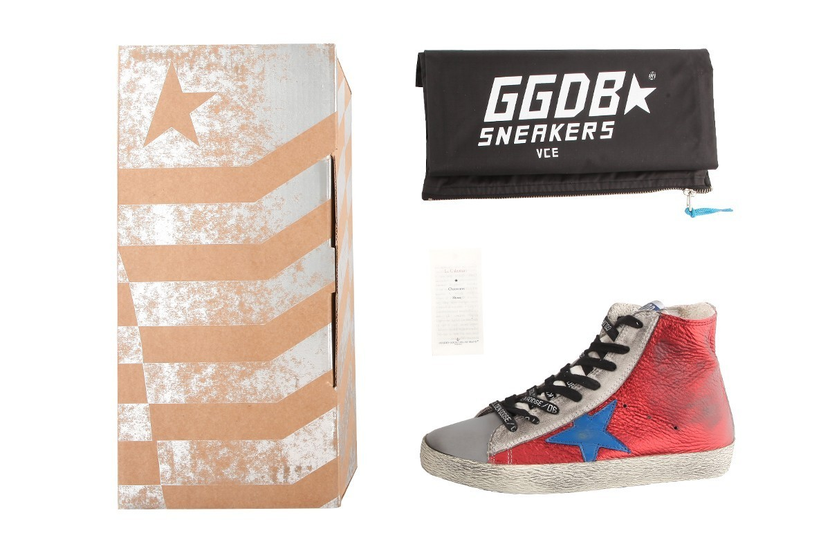 【関税負担】GOLDEN GOOSE FRANCY PAPRIKA LEATHER BLUE STAR