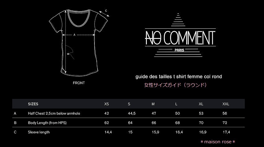 NO COMMENT PARIS *T-shirt  tendance-glamour*GLAM27