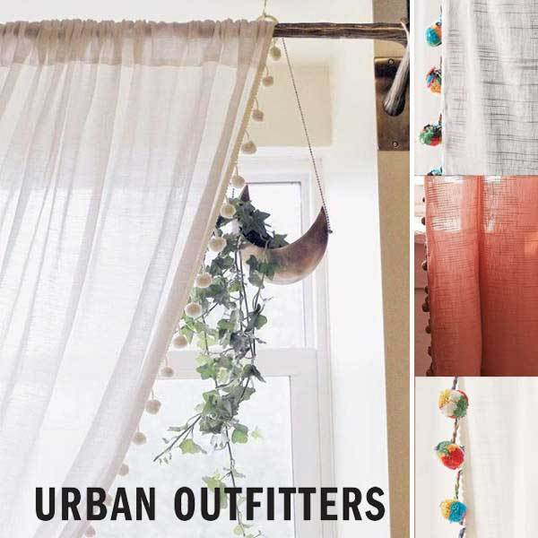 Urban Outfitters カーテン 2枚組 Magical Thinking Pompom