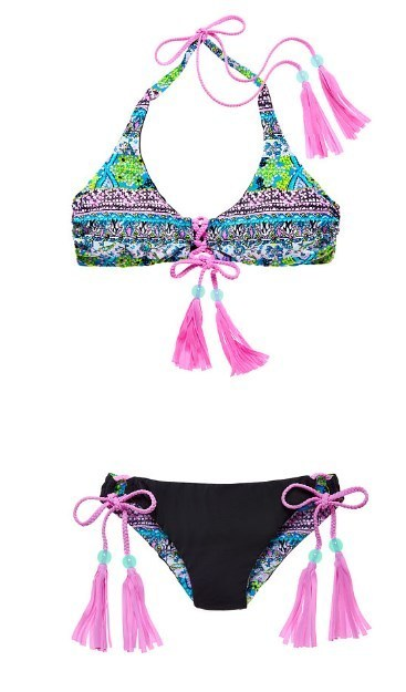 VS☆Reversible Lace-Up Halter リバーシブル水着 国内発送