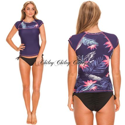 【ROXY】Tropical Cap Sleeve Rash Vest/ラッシュ