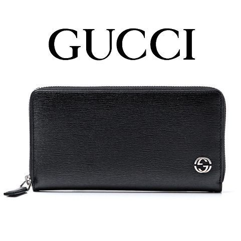 16春夏新作 ☆Gucci☆ Interlocking G  Leather zip長財布♪