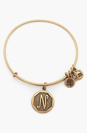 Alex and Ani 'Initial' Adjustable Wire Bangle 送料・関税込
