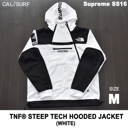 Supreme パーカー・フーディ Mサイズ!Supreme (シュプリーム) x TNF STEEP TECH SWEATSHIRT